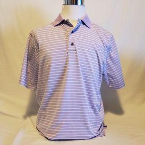 Footjoy M men Purple Short Sleeve Polo style shirt